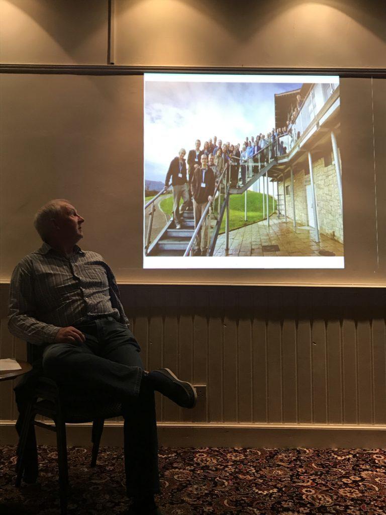 Howard Wood talking about his Goldman Environmental Award at the Clamjamfry.