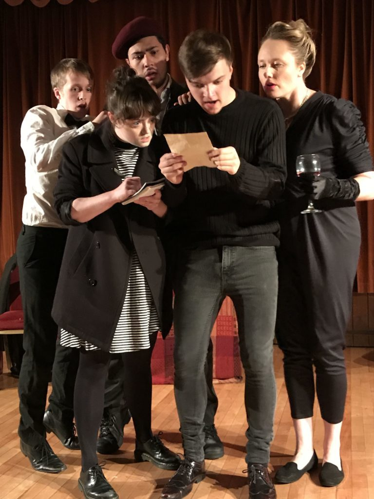 RCS students performing Searching for a Sunny Day - a piece abut memory and dealing with dementia.