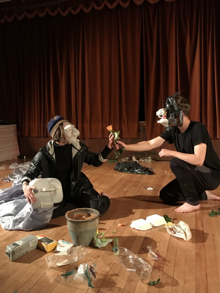 RCS students performing Wilf and the Whale - a piece about plastics waste and the impact of humans on the earth.