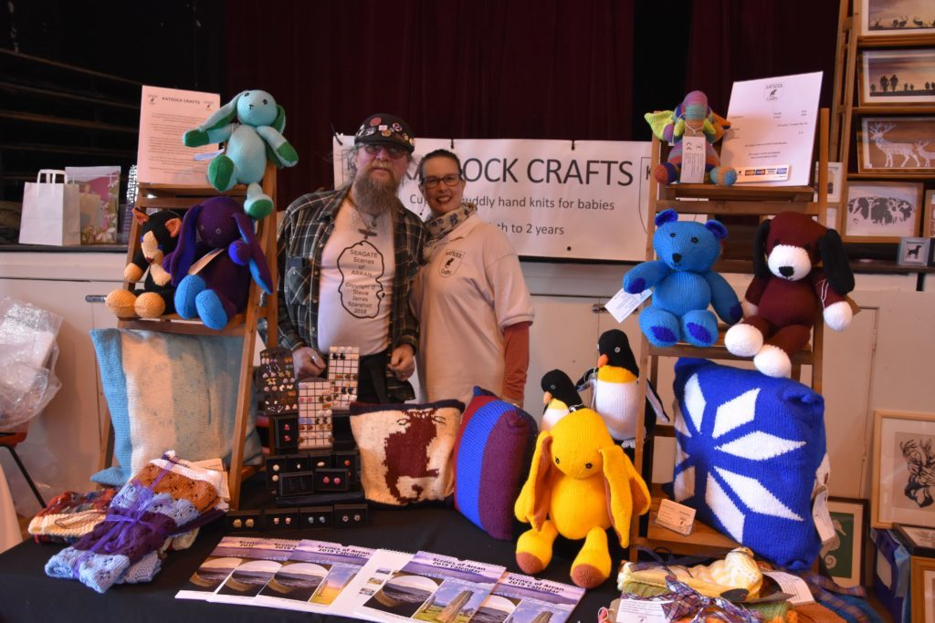 Organisers Stephen and Katharine Sparshott pictured at their Katsock Crafts stall.