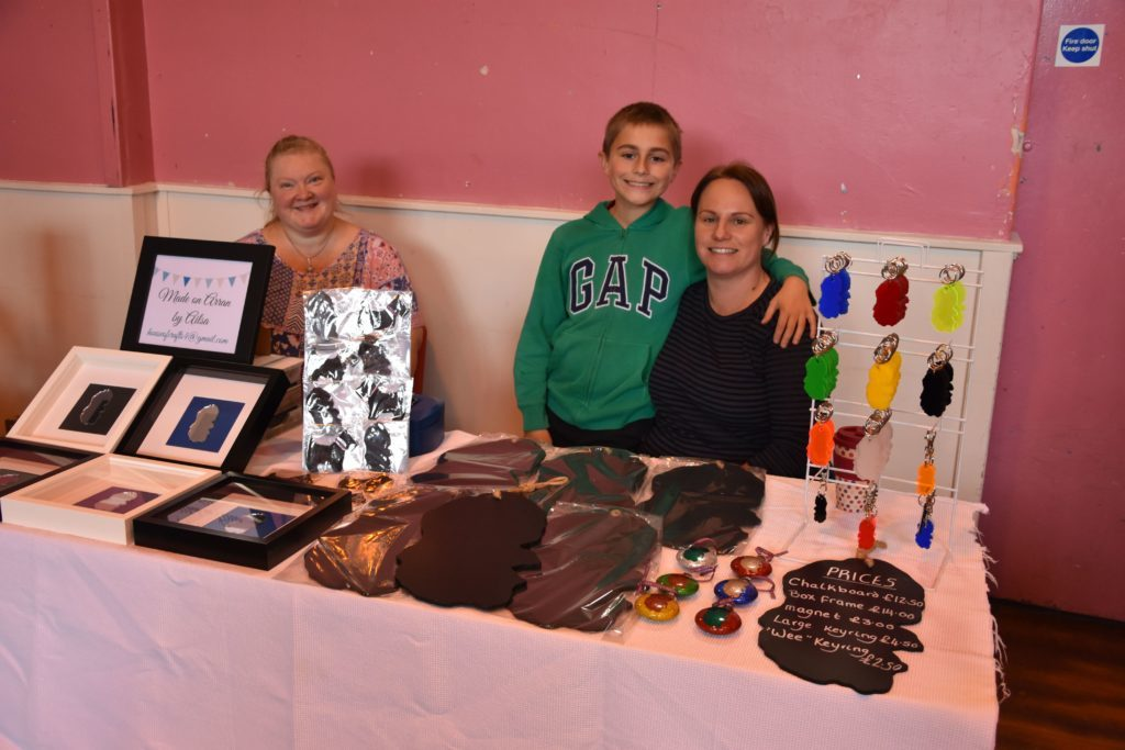 Popular products with Arran themes, Karen Bell of Karebell Designs and Ailsa Lawson.