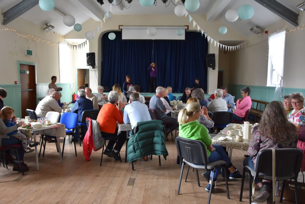Members of the Kilmory community filled the village hall in support of the Kilmory Primary pupils and Macmillan Cancer Support.