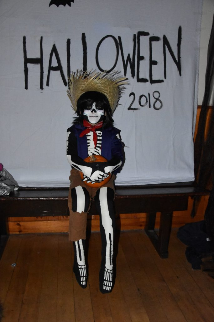 Louis Henbery looked suitably scary dressed as Hector from Disney's Coco.