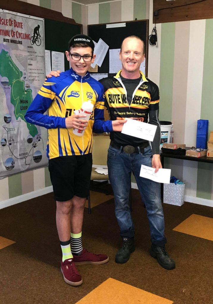 Louie Urquhart-Dixon won his age category and was third overall at the Serpentine Hill Climb in Bute.
