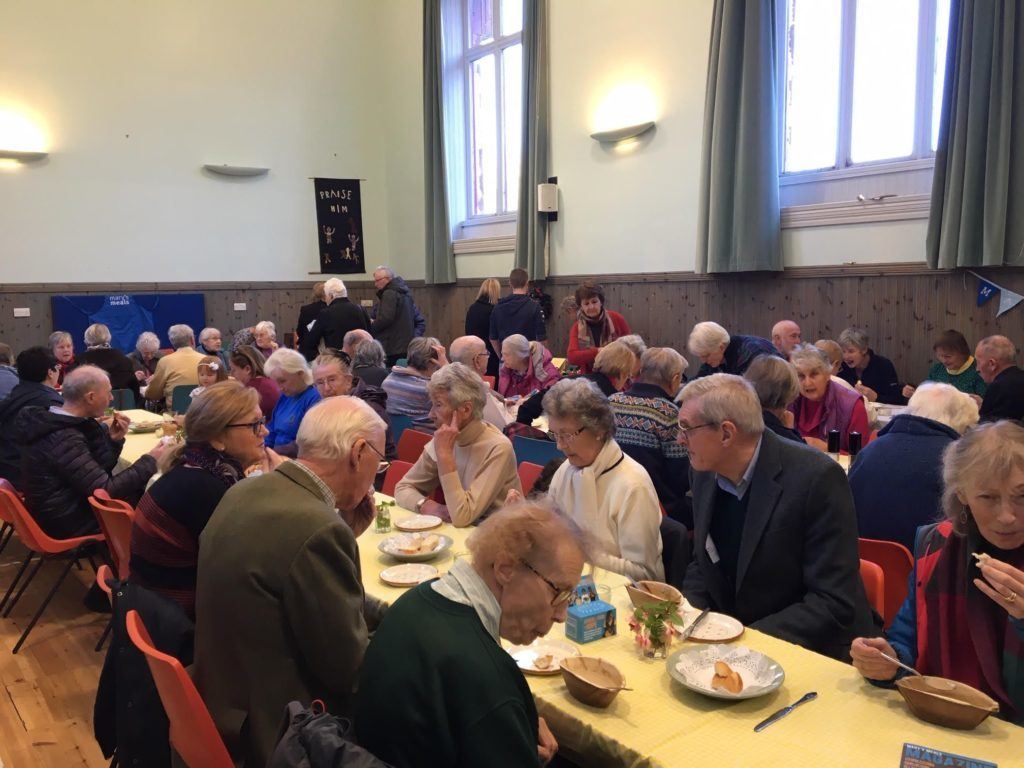 Lamlash Church was full to capacity with supporters who enjoyed an afternoon lunch of bread and soup.