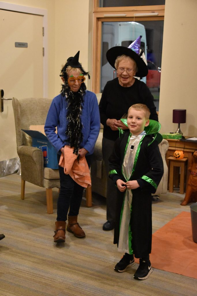 A joke-telling wizard was one of the many children that visited the Brodick residential care home.