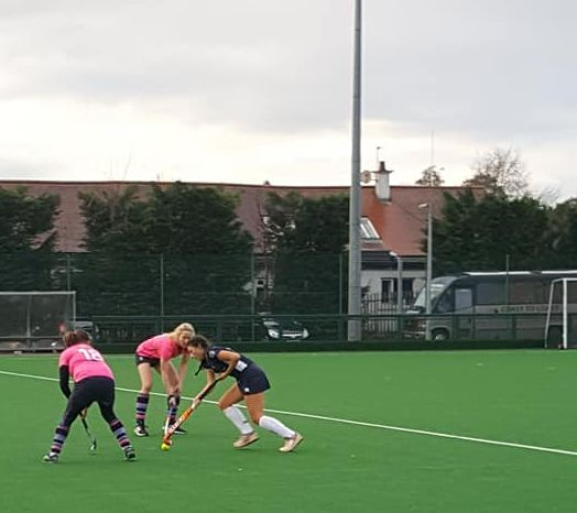 On the attack, Hazel Malakoty battles a GHK player for possession.