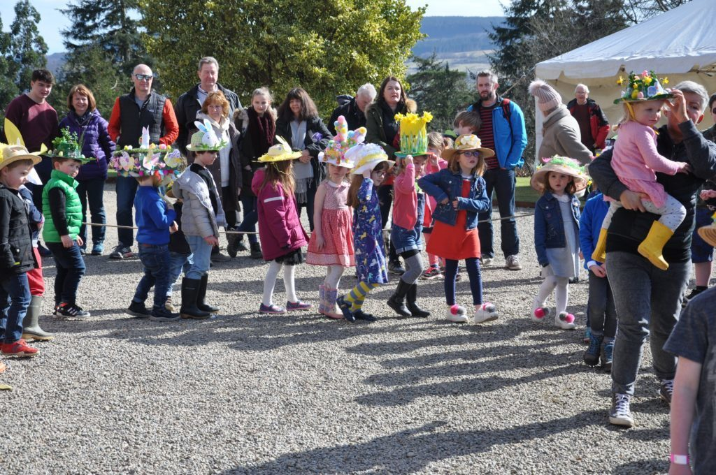 APRIL - Under 7s take part in the Easter bonnet parade at the annual Easter at the Castle event which enjoyed its busiest year on record.