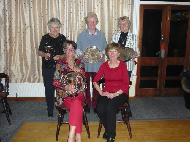 NOVEMBER - Golfing ladies. The main prize-winners at the Lamlash ladies prize-giving.