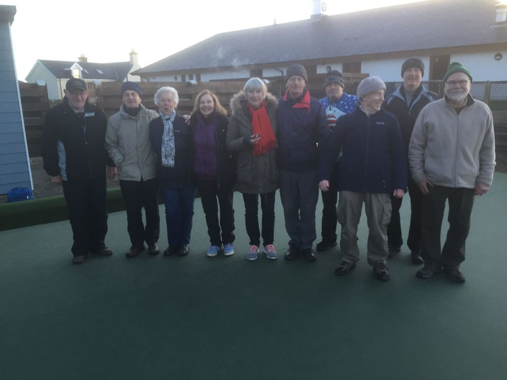 JANUARY - All island clubs were represented at the traditional Boxing Day bowling at Shiskine Bowling Club which ten hardy bowlers attended.
