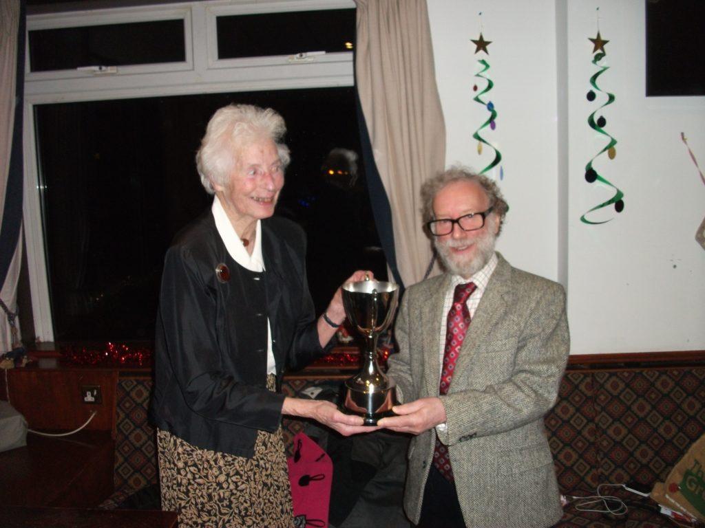 Arran Bowling Federation's Ladies Singles Trophy winner, Ann Hollingworth.