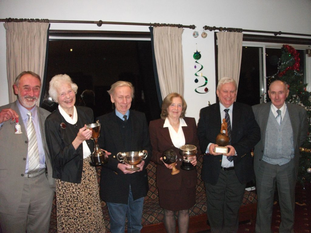 DECEMBER - All of the Brodick Bowling Club prize-winners pictured at the Brodick Golf Clubhouse.