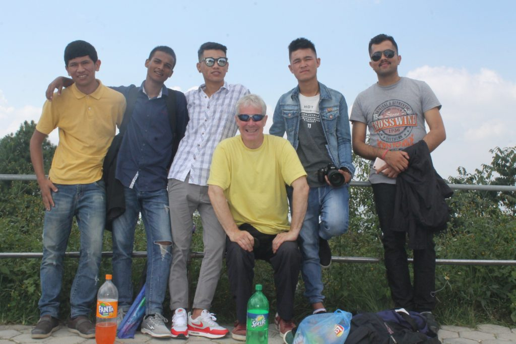 Gordon joins some of the residents of Arran House on a day out to Nagarkot.