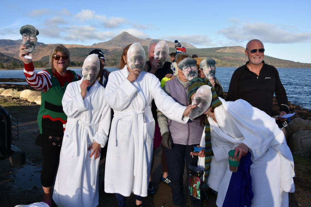Team Douglas Hotel pose for a group photo following their dook.