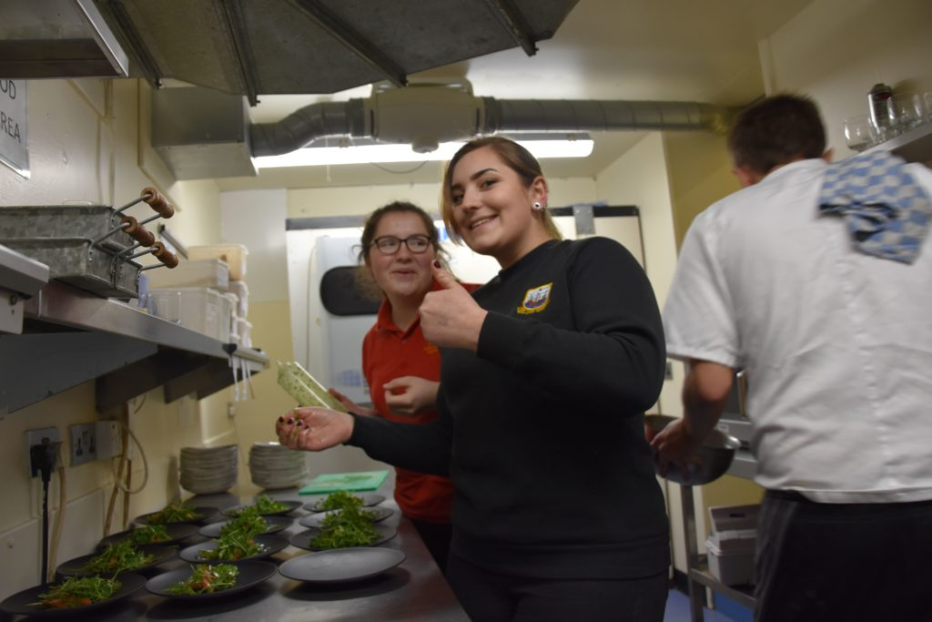 Acting-chefs feeling optimistic about the starters they have prepared.