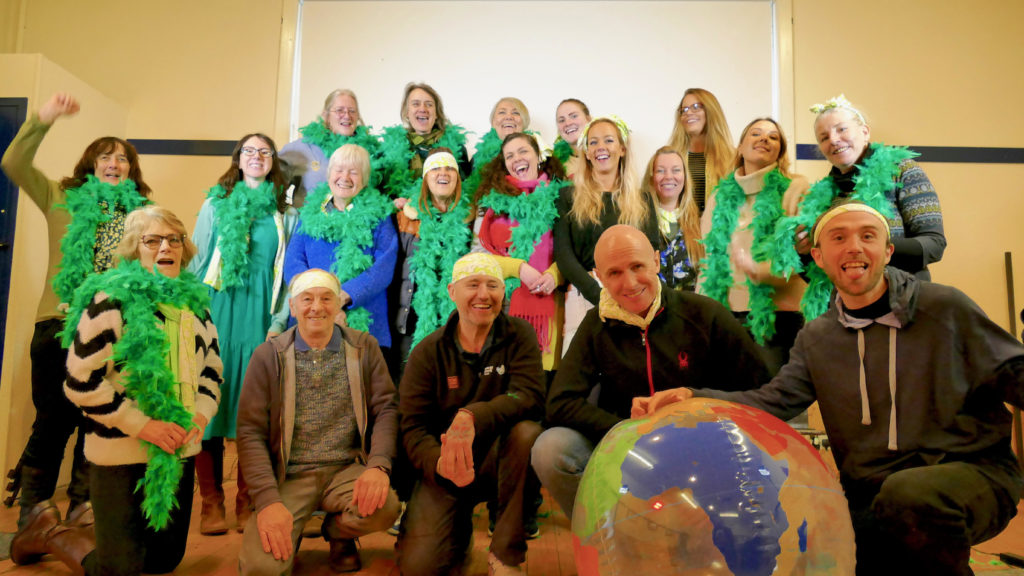 Eco Savvy staff and volunteers pictured at the Be Green event. Photo Chris Attkins.