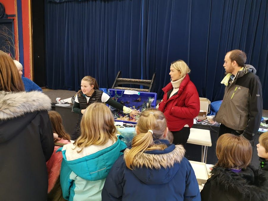 Jenny Stark of COAST talks to the children about marine conservation and pollution.