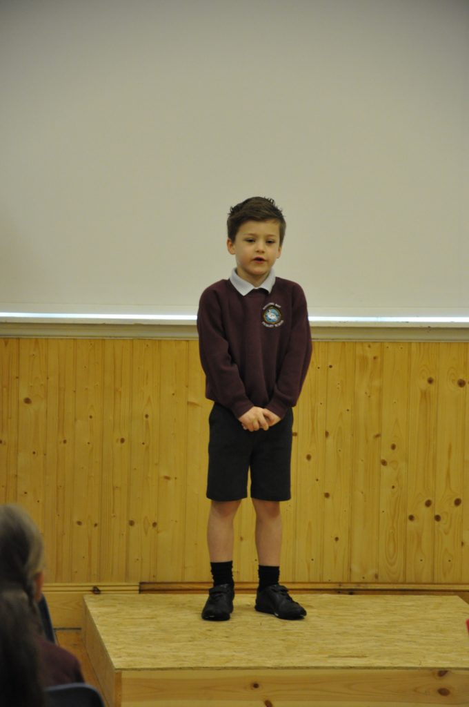 Louis Henbery recites A Wee Dug in the primary 1 and 2 Burns verse speaking competition.