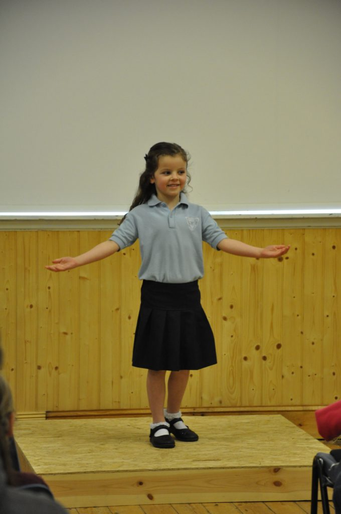 Tia McKinnon provides some actions for her performance of Jack Frost.