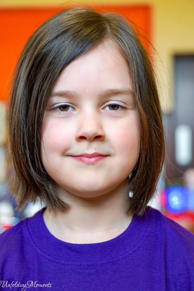 Suits you - shorter style for Kayla after having her hair cut in aid of charity. Picture by Natalie Lambie from Unfolding Moments.