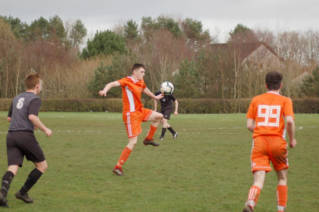 Man of the match Joel Small put in another spirited performance against Galston.