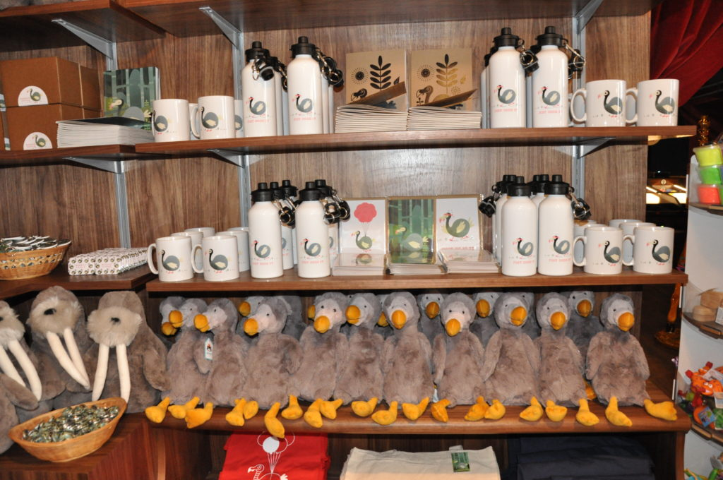 The display of dodo goodies on sale.