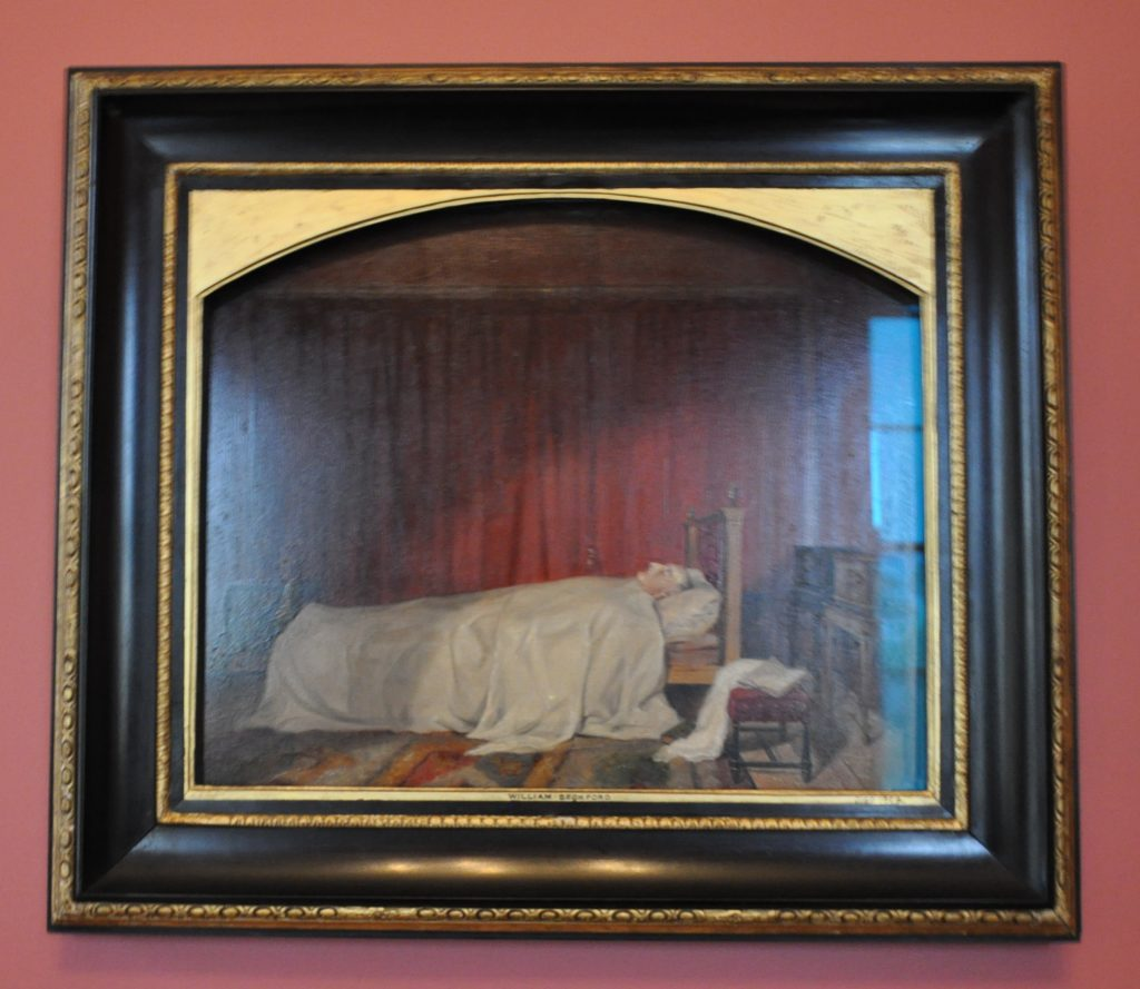 The famous painting of William Beckford on his deathbed.