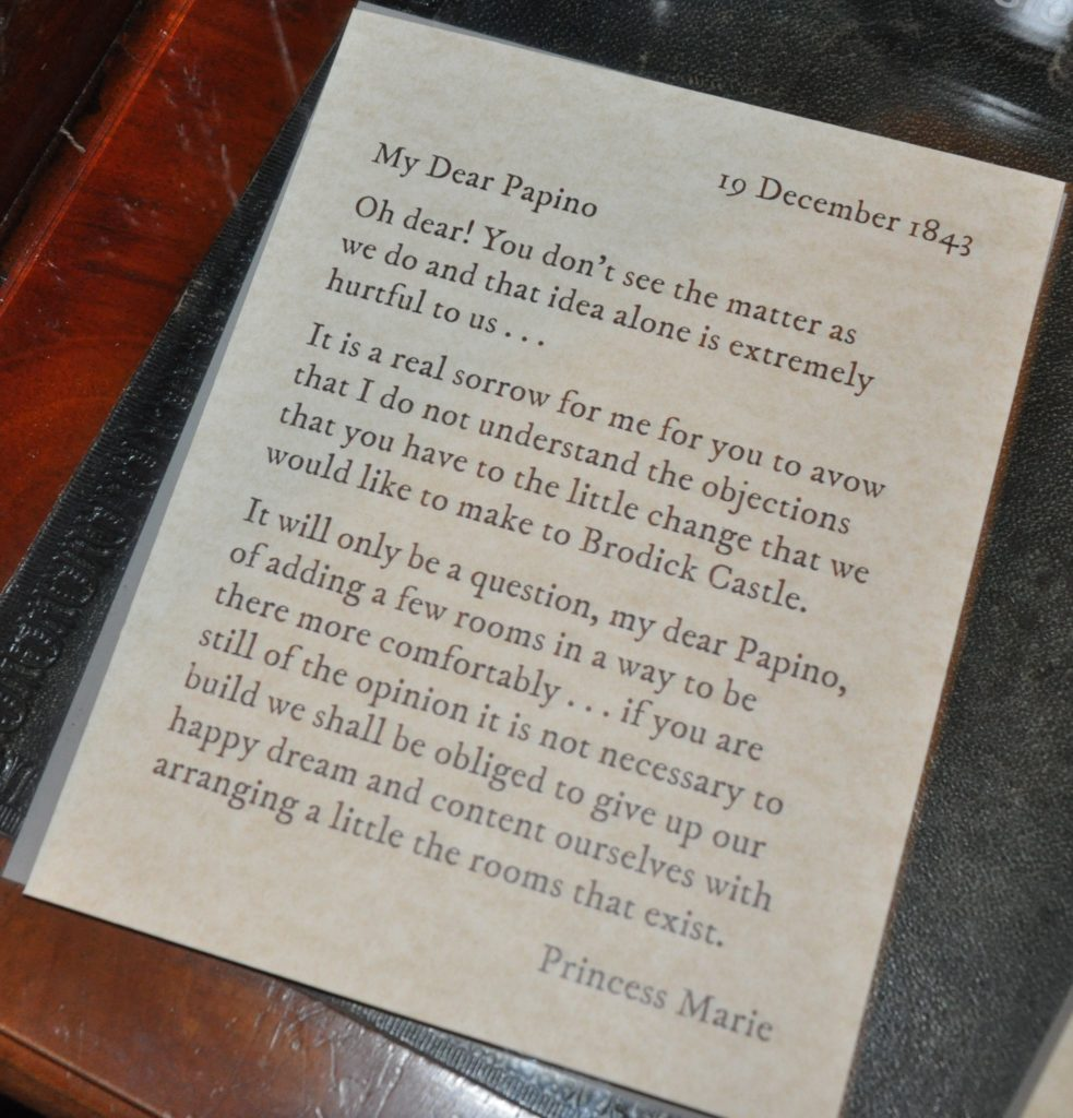 Princess Marie's letter to her father.