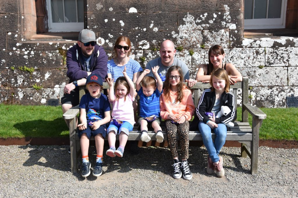 The third generation to be visiting Arran from Edinburgh are brothers David and Matthew Simpson with their wives Holly and Sarah and their five children.