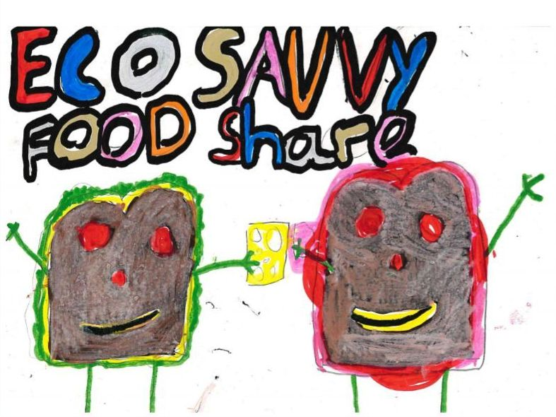 The winning logo that will be used for the Eco Savvy food share scheme.