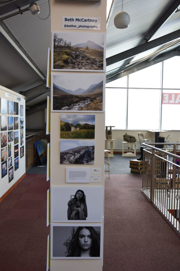 Photographer Beth McCartney shared some exhibition space with #9YearsOnArran.