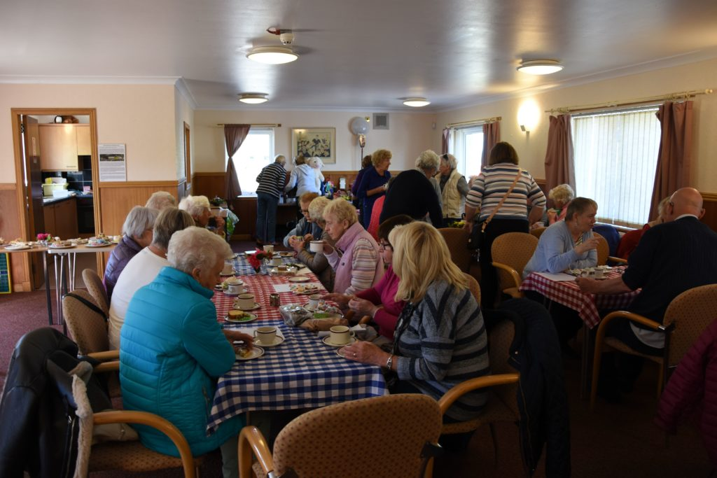 The Ormidale Pavilion hall was filled to capacity with supporters enjoying the home baking and refreshments on offer.