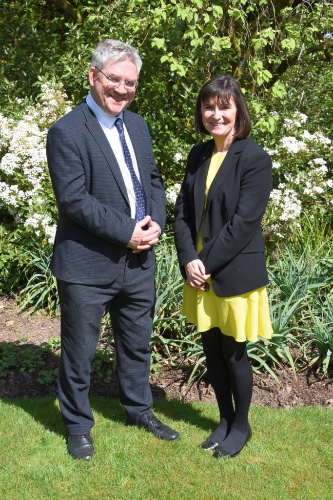 VIP guests, MSP Kenneth Gibson and MP Patricia Gibson attended the opening of Brodick Castle.