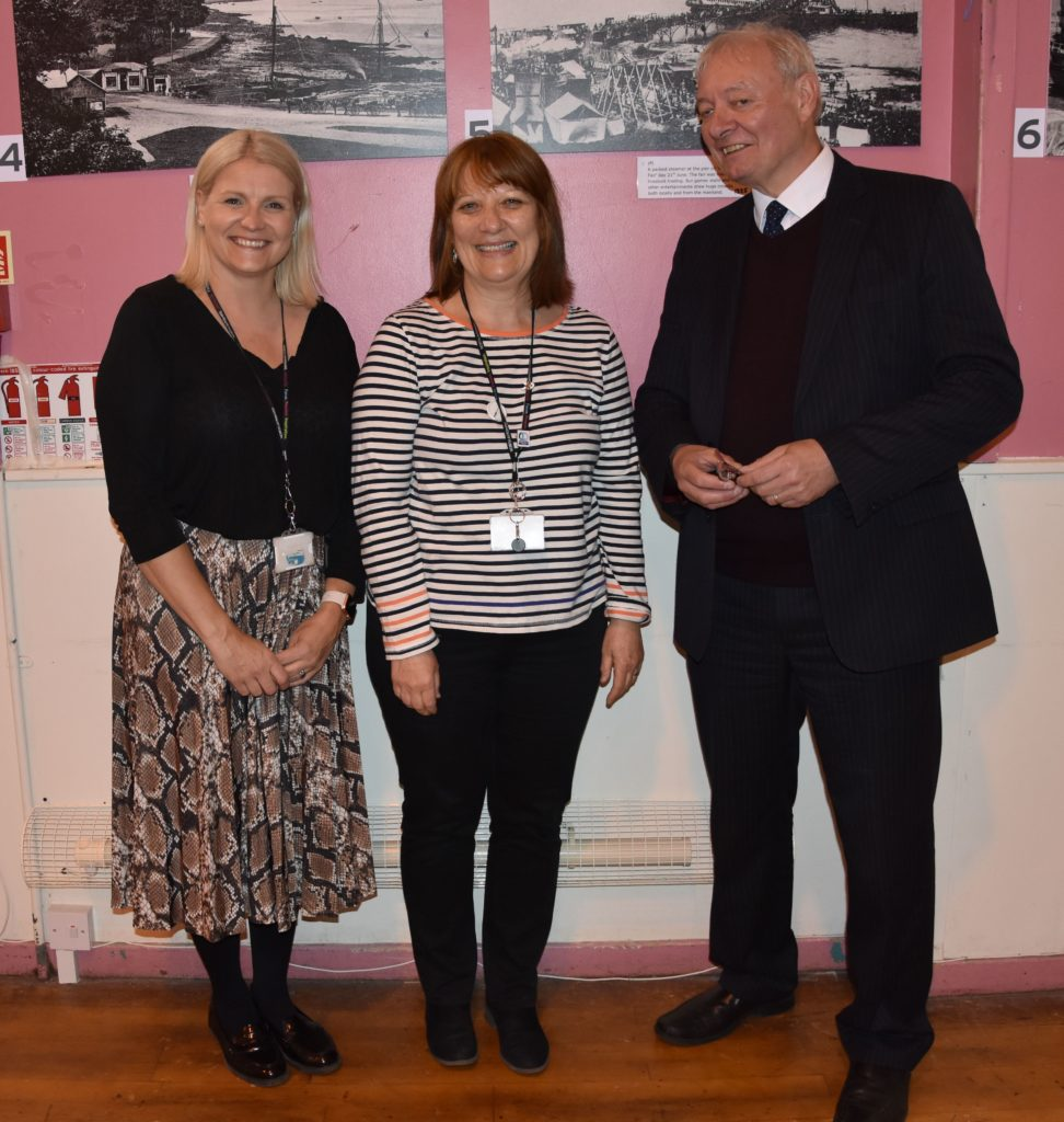 Engagement and participation officers, Anne Marie Hunter and Pam Crosthwaite, join senior manager of participation and empowerment, Jim McHarg in hosting the engagement event.