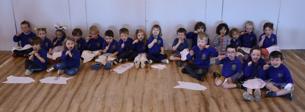 Brodick Early Years pupils enjoy a fun morning learning about oral health.