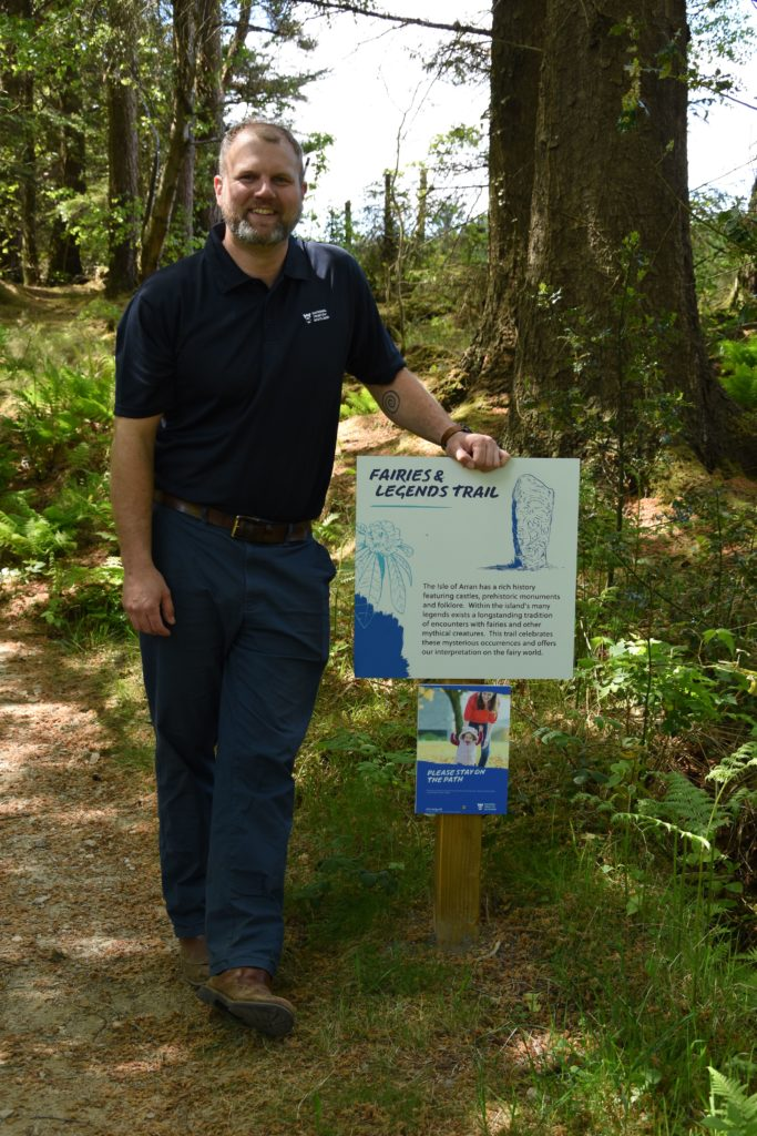 Hands-on operations manager Jared Bowers is pictured on the Fairies and Legends Trail.