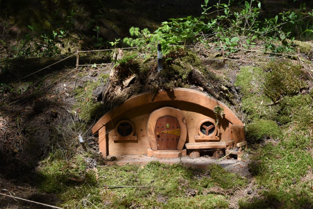 Fairy houses are just some of the many delights children can discover on the trail.