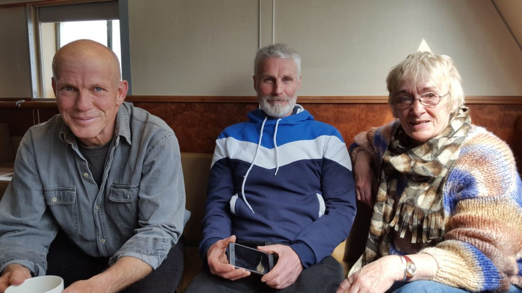 Director David Simpkin joins the travelling actors Allan Nichol and Zoe McGovern on the ferry to perform at the East Kilbride Rep Fest.