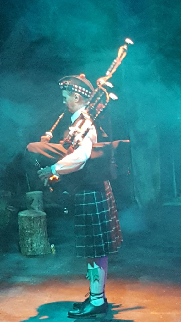 Piper Beverley Scott performs the opening scene in the play Nunquam Non Paratus.