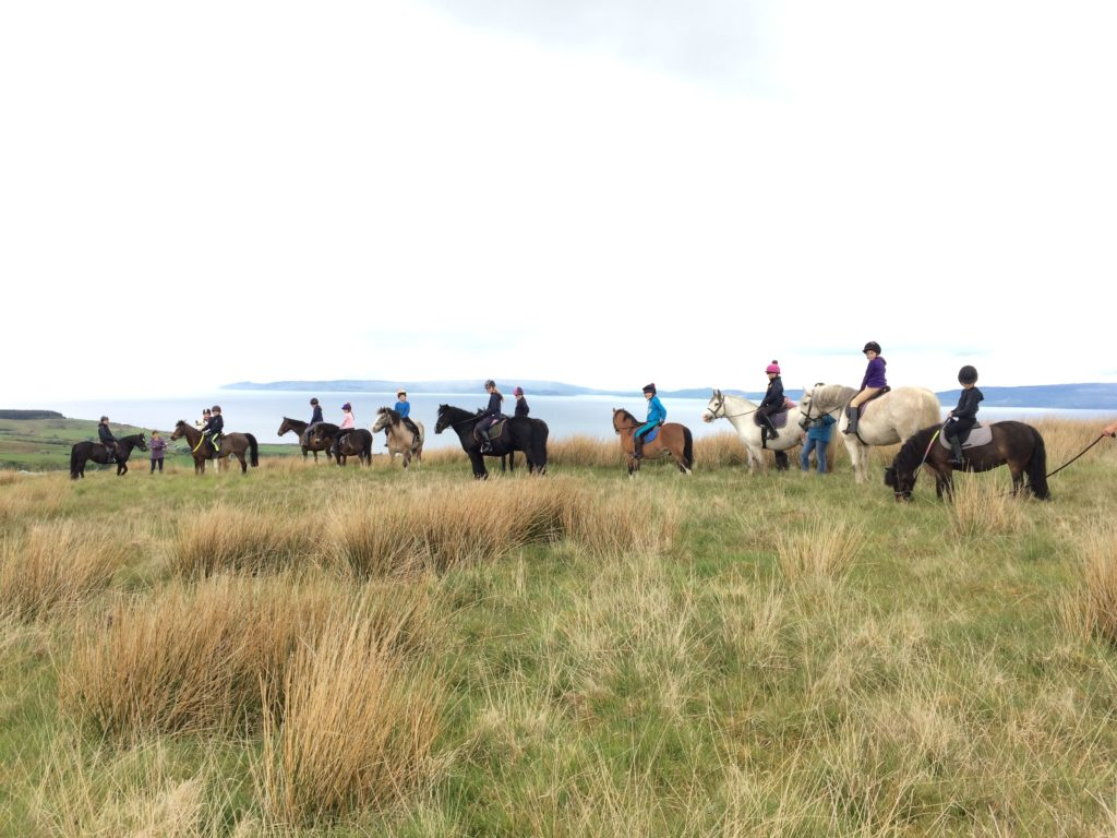 Everyone enjoyed a hack up the hill.
