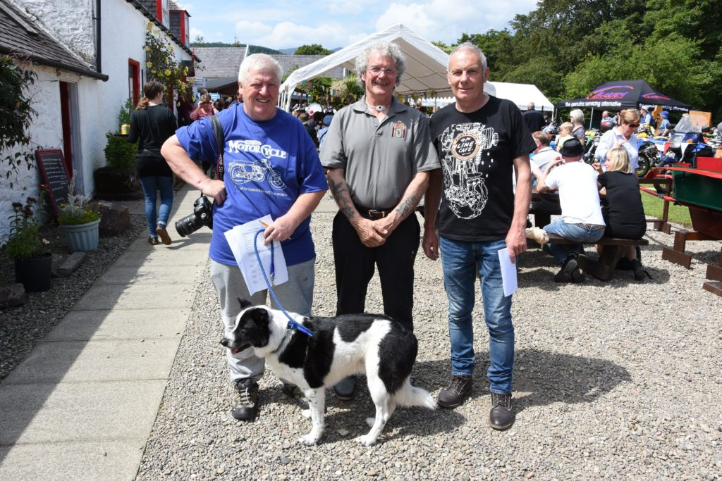 Organisers Lenny Hartley, Ian Leitch and Ronnie Logan pictured just before the prize giving.