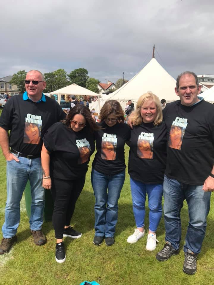 Yvonne has her own group of supporters who joined her at the Ardrossan Games where she achieved second place.  Photo: Mark Bunyan.
