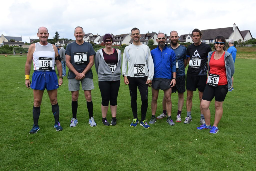 Team Arran. A number of local runners took part in the marathon.