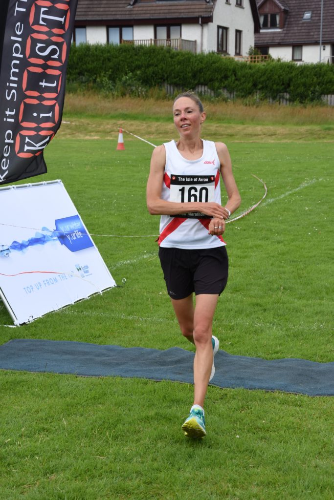 First female over the line, Laura Wallis of Ayr Seaforth Athletic Club.