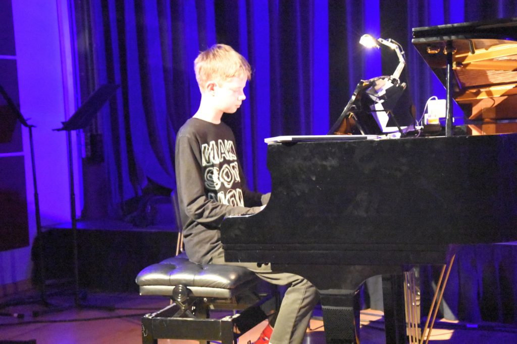 Hamish Campbell performs Fight For This Love in his piano solo.