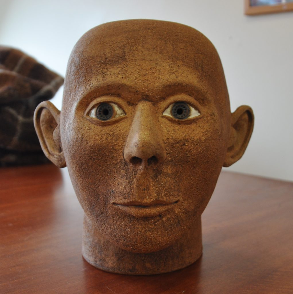 The sculpted head of Clachaig man.
