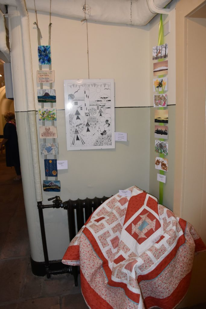 On display inside the castle itself was an exhibition of the project, 52 Stitched Stories.