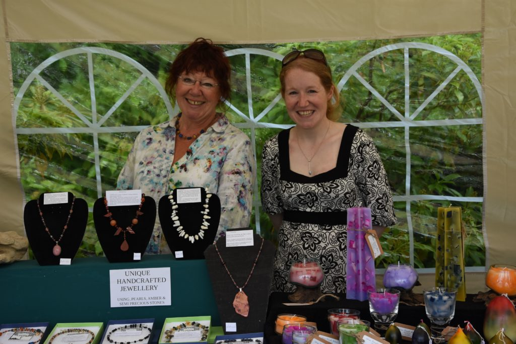 The friendly faces of Arran crafting, artist Lesley Van Bogerijen and Karen Furze of Arran Candle Makers.
