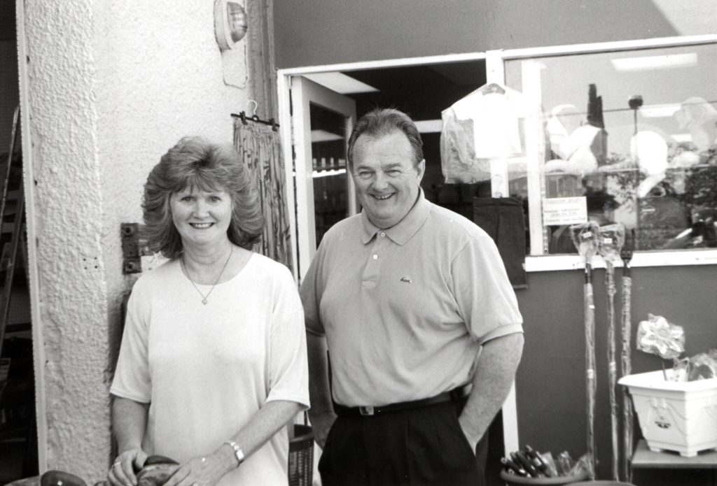 Ron and Babs Fleming are spending more and more time on Arran. Well known for owning the Wool Sak in Prestwick, the couple bring wool and other items to their other shop, Belford Mill in Whiting Bay which has now become their busiest shop.