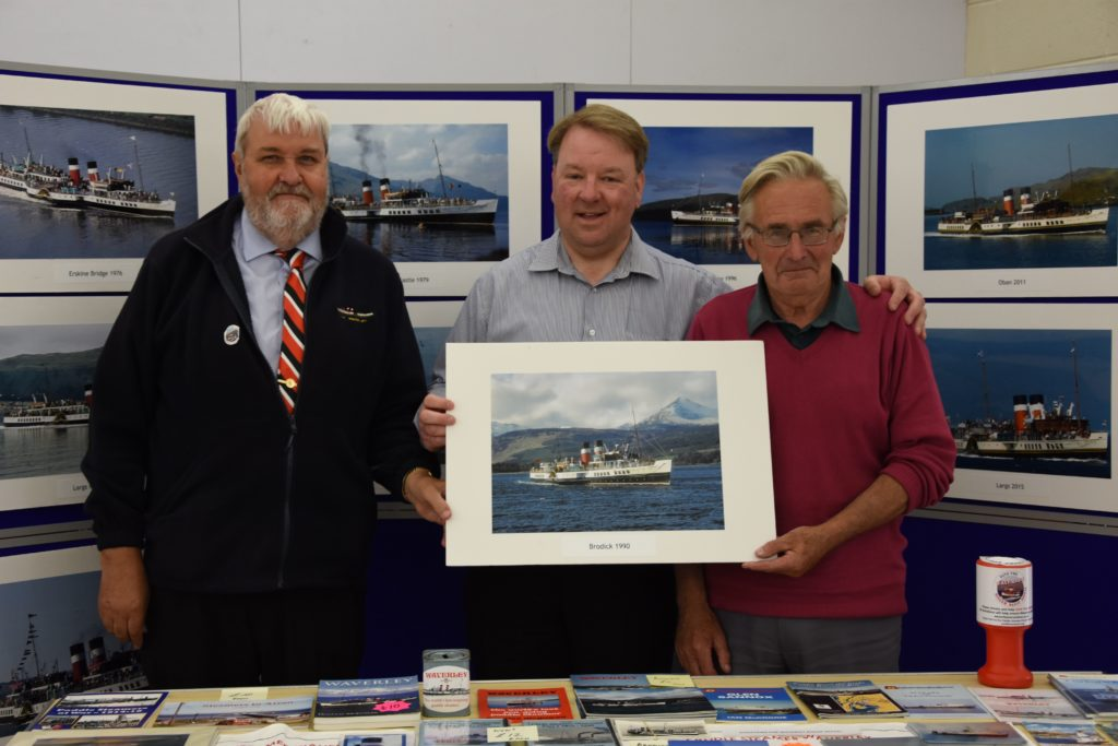 Ian Quinn, Ian Wilson and Kenny Morrison hosted a stall in aid of the Waverley Boiler refit appeal.